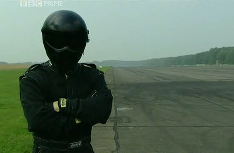 Perry McCarthy as the original Stig in Top Gear