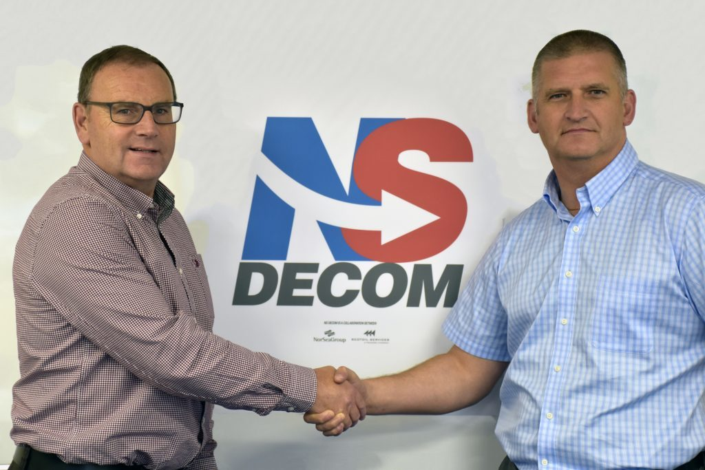 Left to right, NorSea Group (UK) MD Walter Robertson and Craig Smith, MD of Scotoil Services.