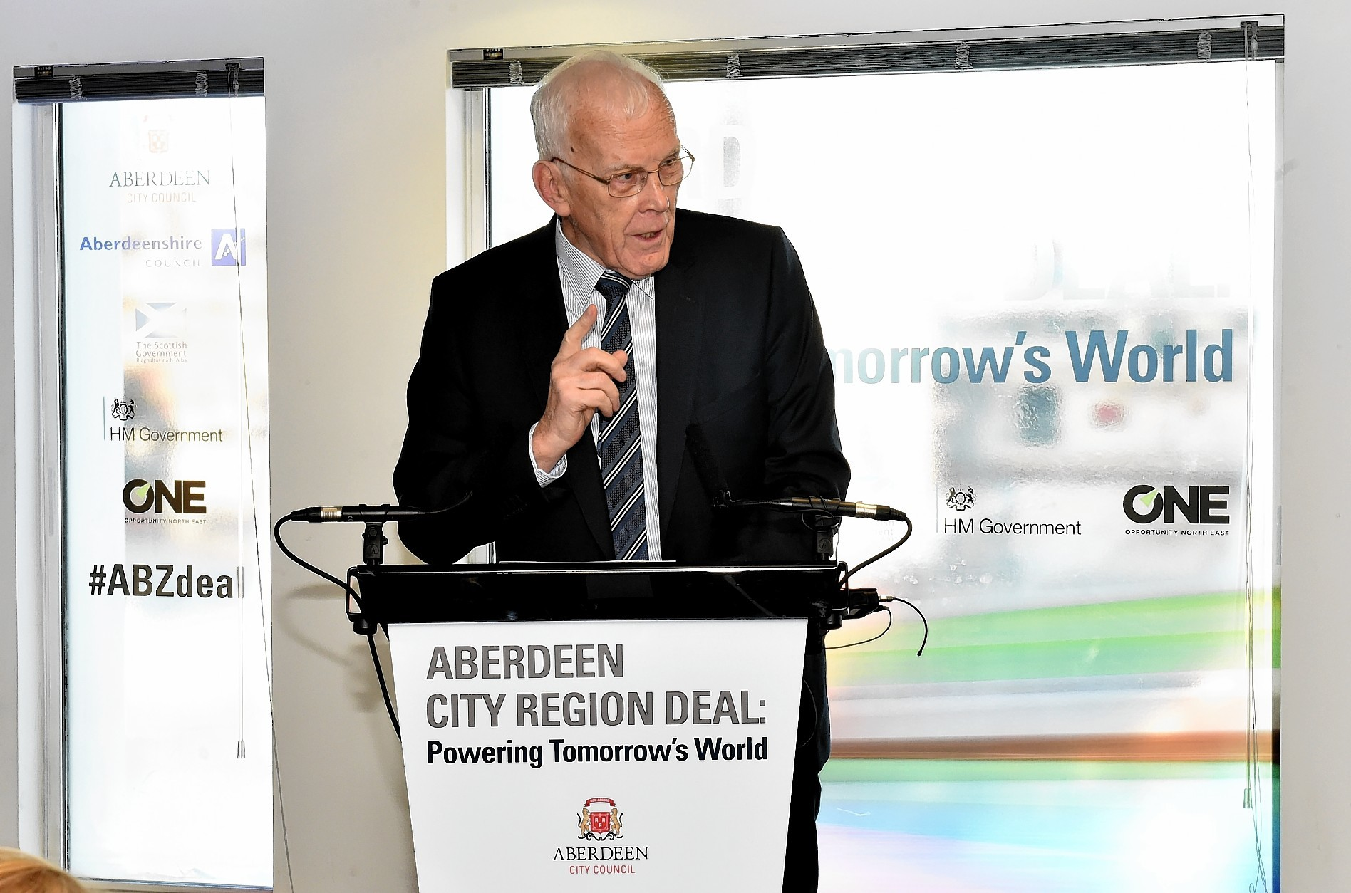 Sir Ian Wood at the signing of the Aberdeen City Region Deal