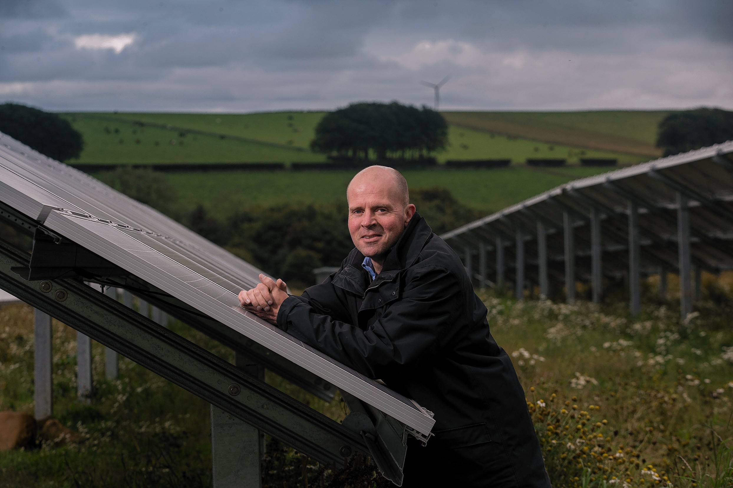 Mackie's managing director Mac Mackie at the solar farm