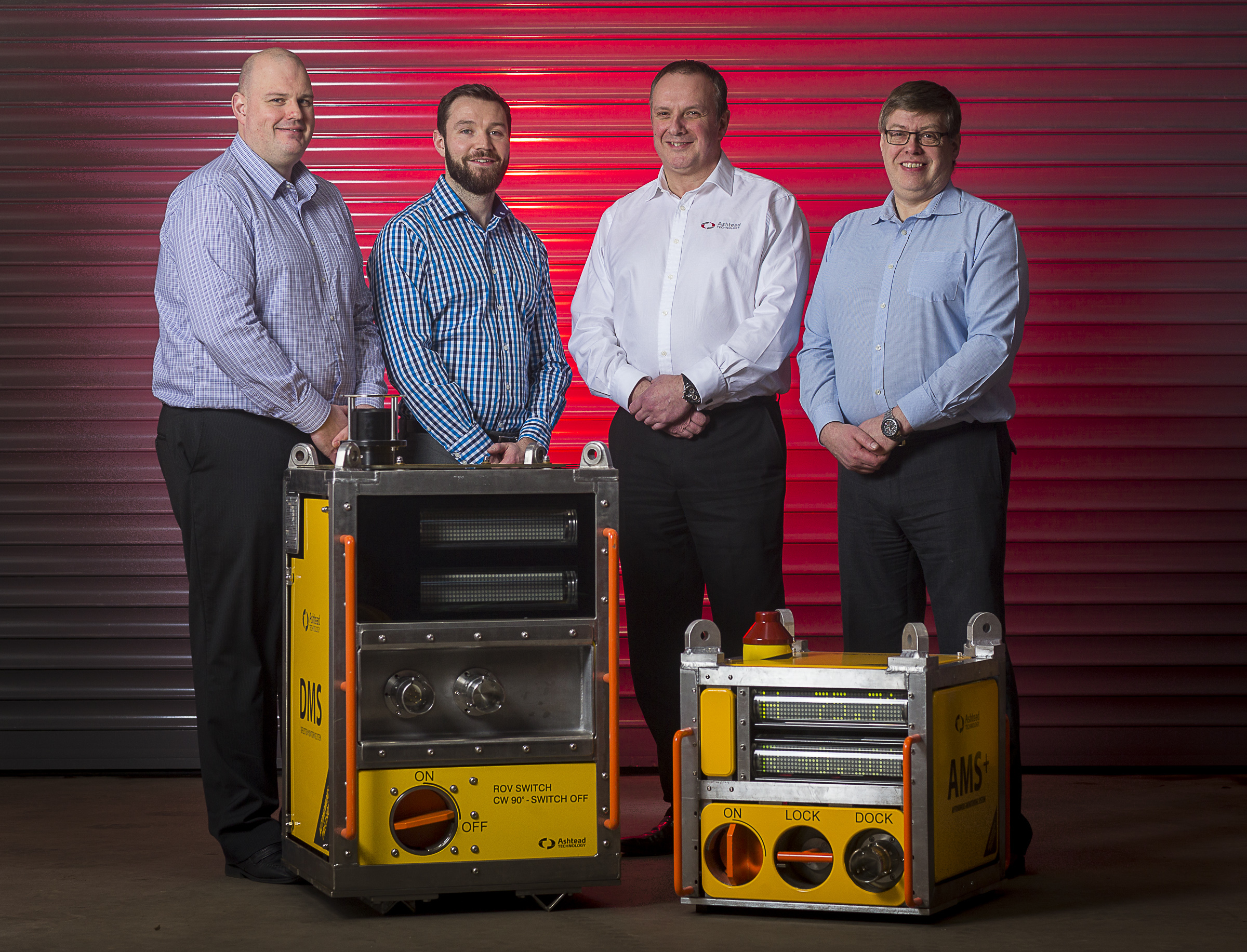 : Ashtead's newly formed engineered measurement solutions group – (L to R) Mark Ellington, Scott Smith, Ross MacLeod, and Alistair Birnie.