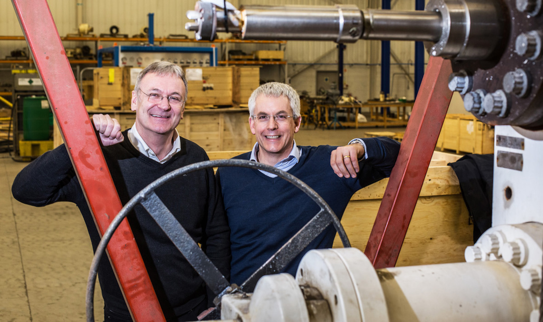 Frontrow chairman Graeme Coutts (left) with BGF investor Mike Sibson