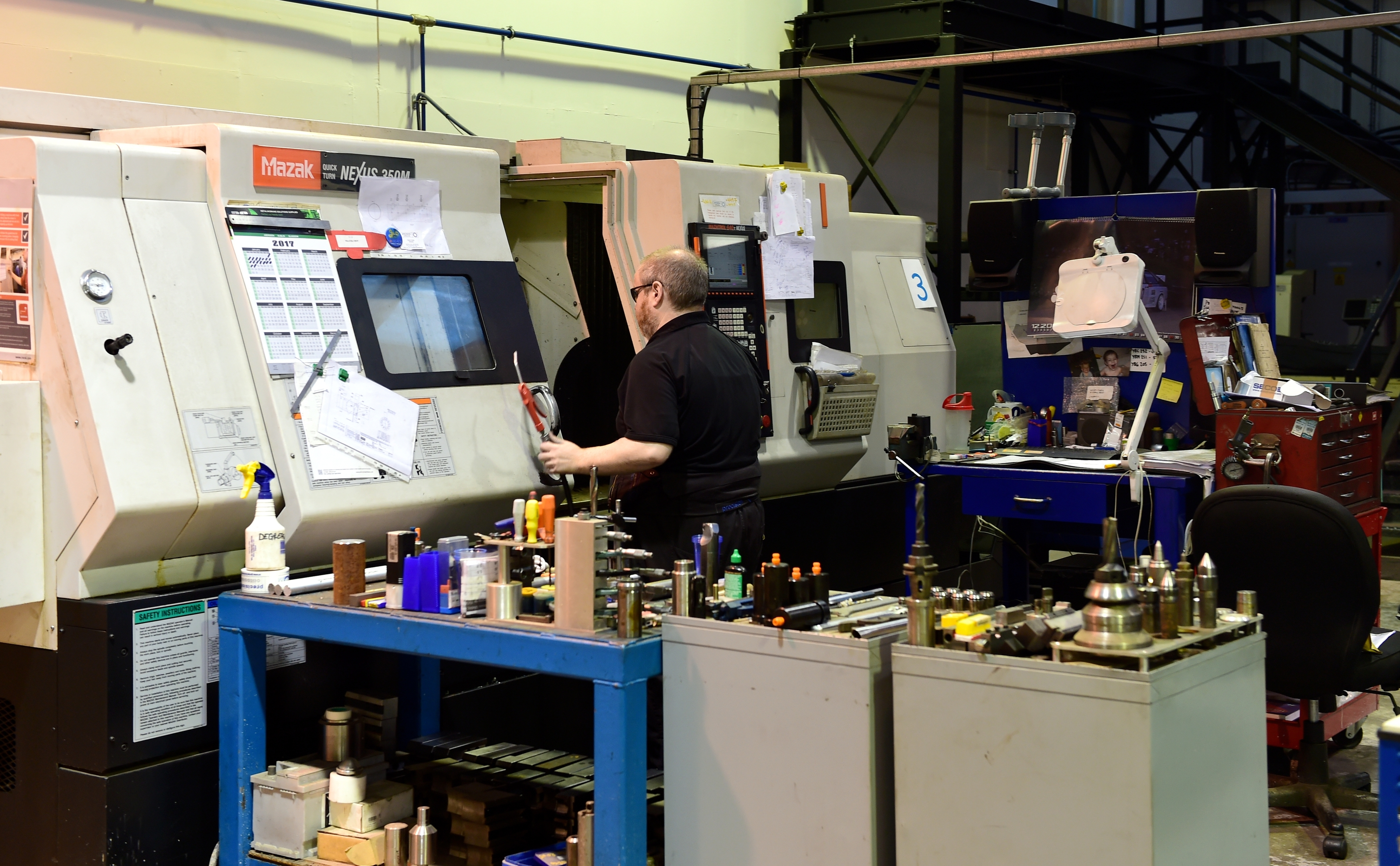 Precision Oil Tools Ltd, Kintore, in the workshop.