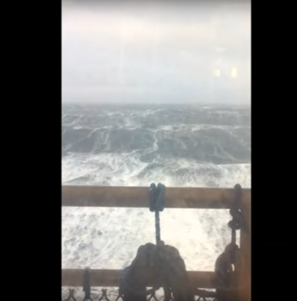 Huge waves have been caught on camera again