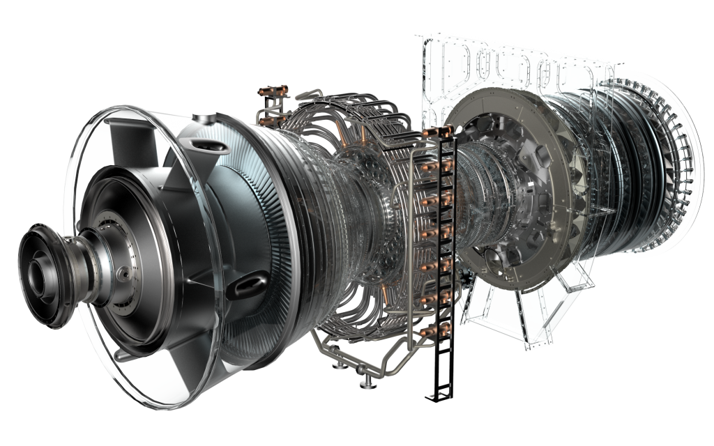GE Oil and Gas's LM9000 gas turbine.