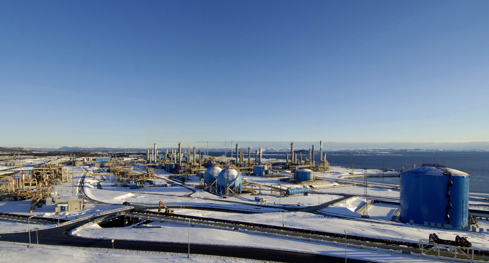 The Karsto gas processing plant. Picture from Gassco