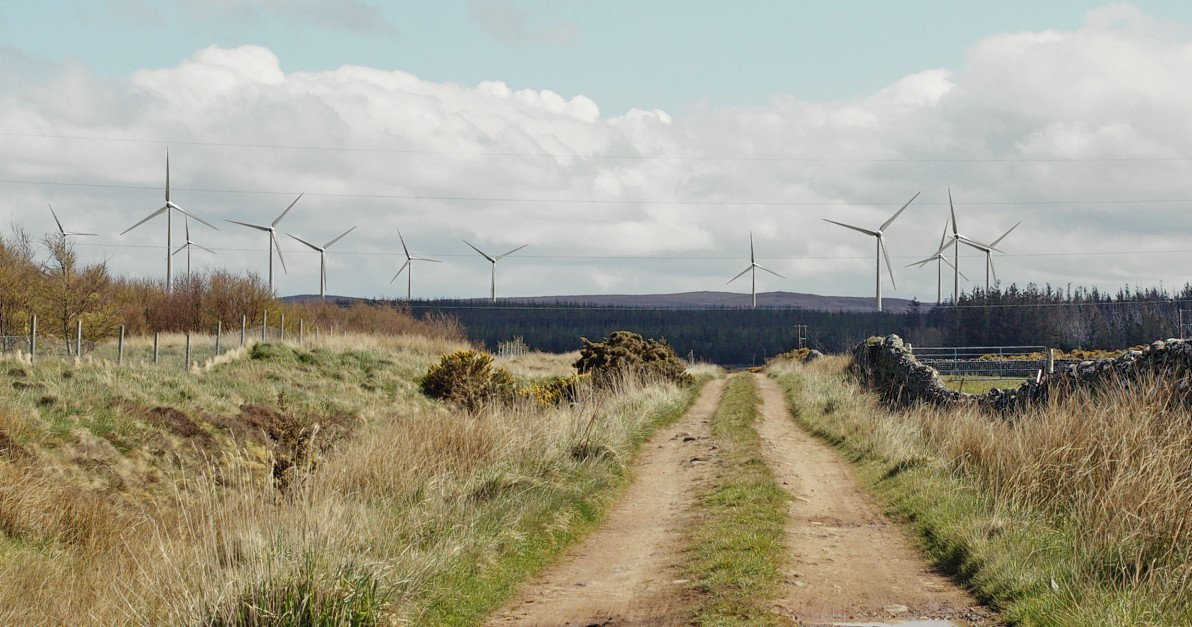 development: Artist's impression of the Limekiln Wind Farm, while seven 400ft turbines have now been proposed for Reay in Caithness