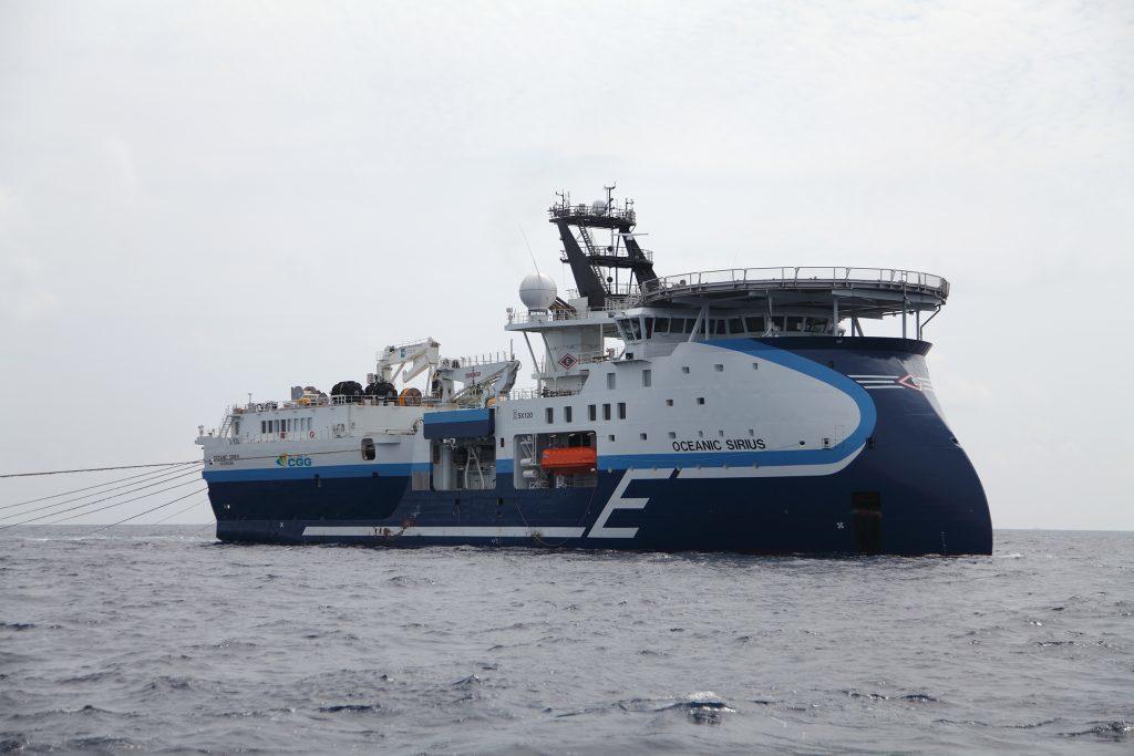 CGG's Oceanic Sirius vessel