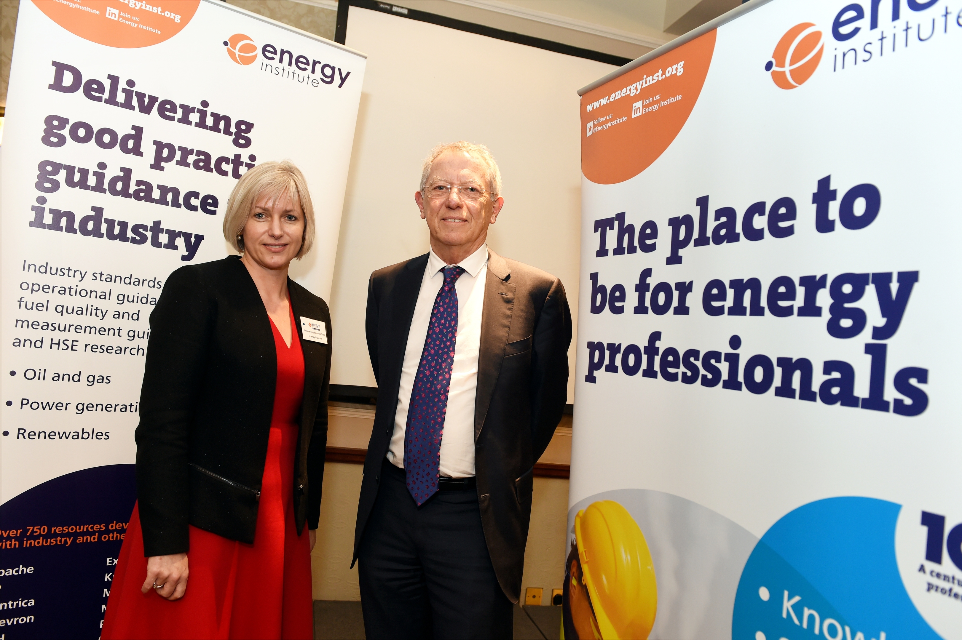 Energy Institute CEO Louise Kingham and Sir David King