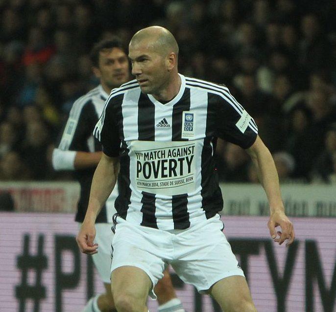 Zinedine Zidane during  a charity football match. Photo by Christophe95 - Wikicommons