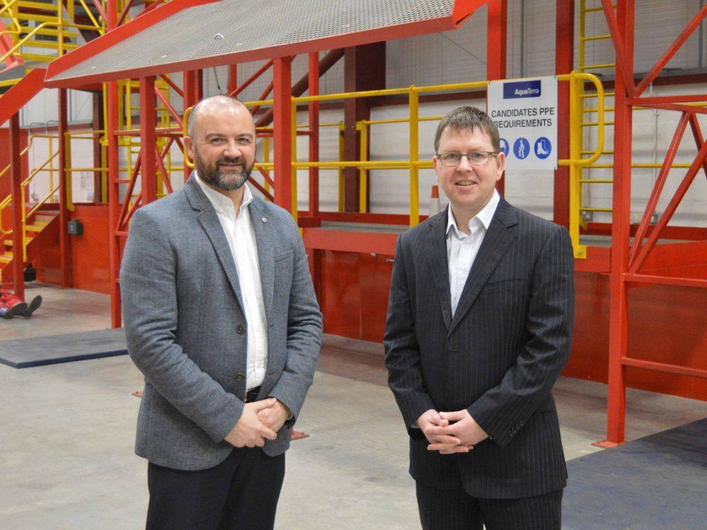 Keith Adam, managing director at Polaris Learning, and Charlie Cameron, training director at AquaTerra Training.