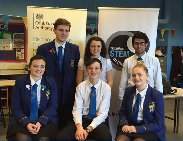 Larbert Academy's STEM team