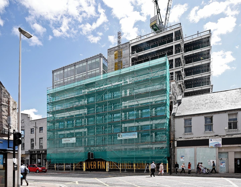 The Silver Fin building taking shape in Aberdeen