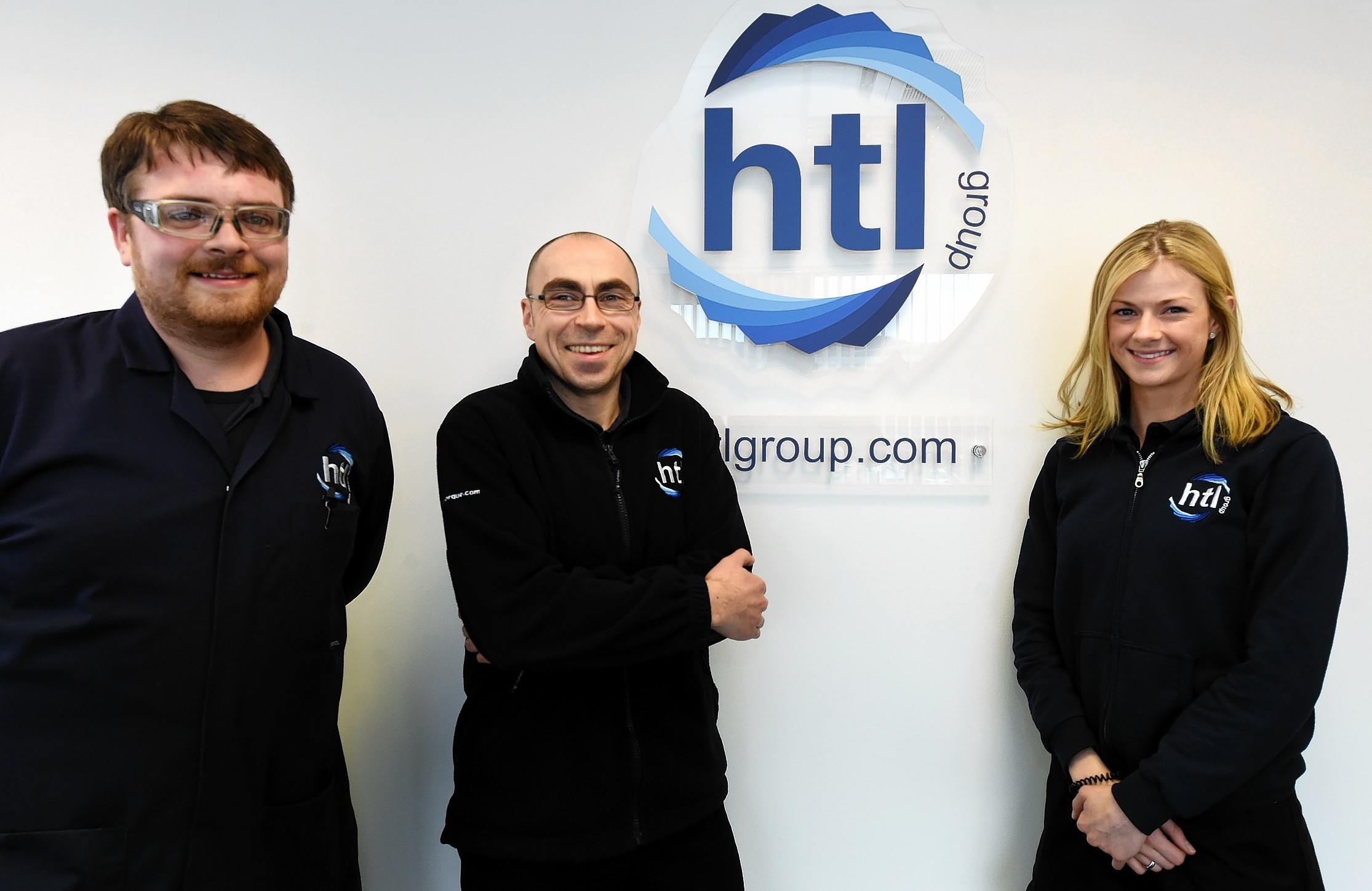 Apprentice Feature: HTL Group, Dyce, Aberdeen. In the picture are from left: James Beadles, Scott Ingram and Jo Donald.