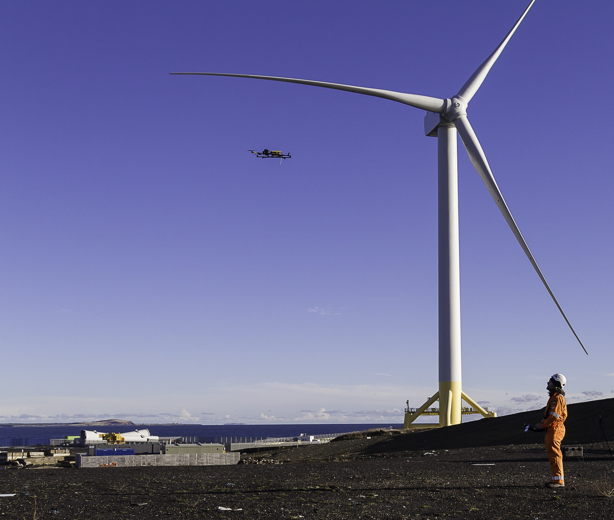 SgurrEnergy UAV with wind turbine generator