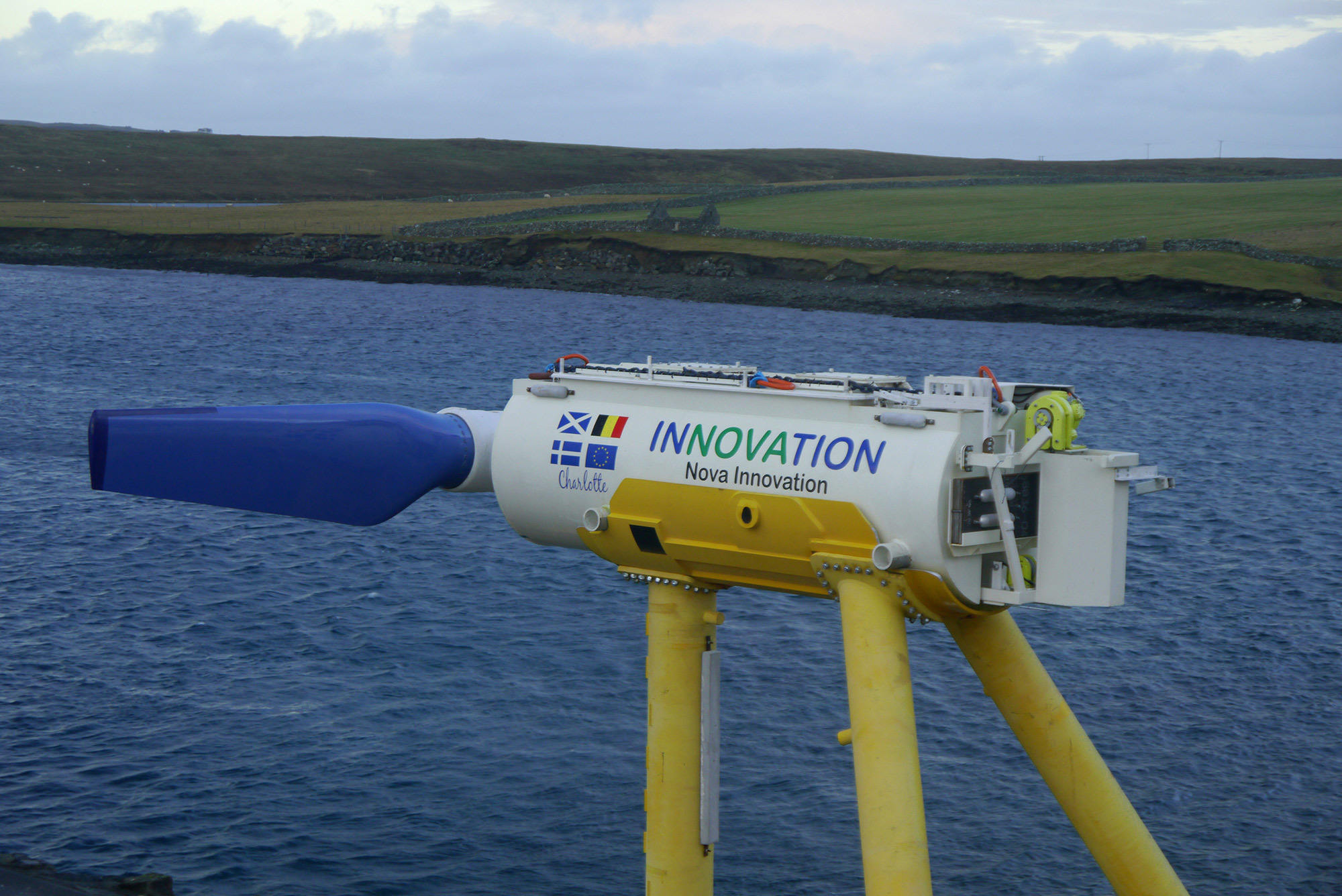 Tidal turbine Power take-off Accelerator