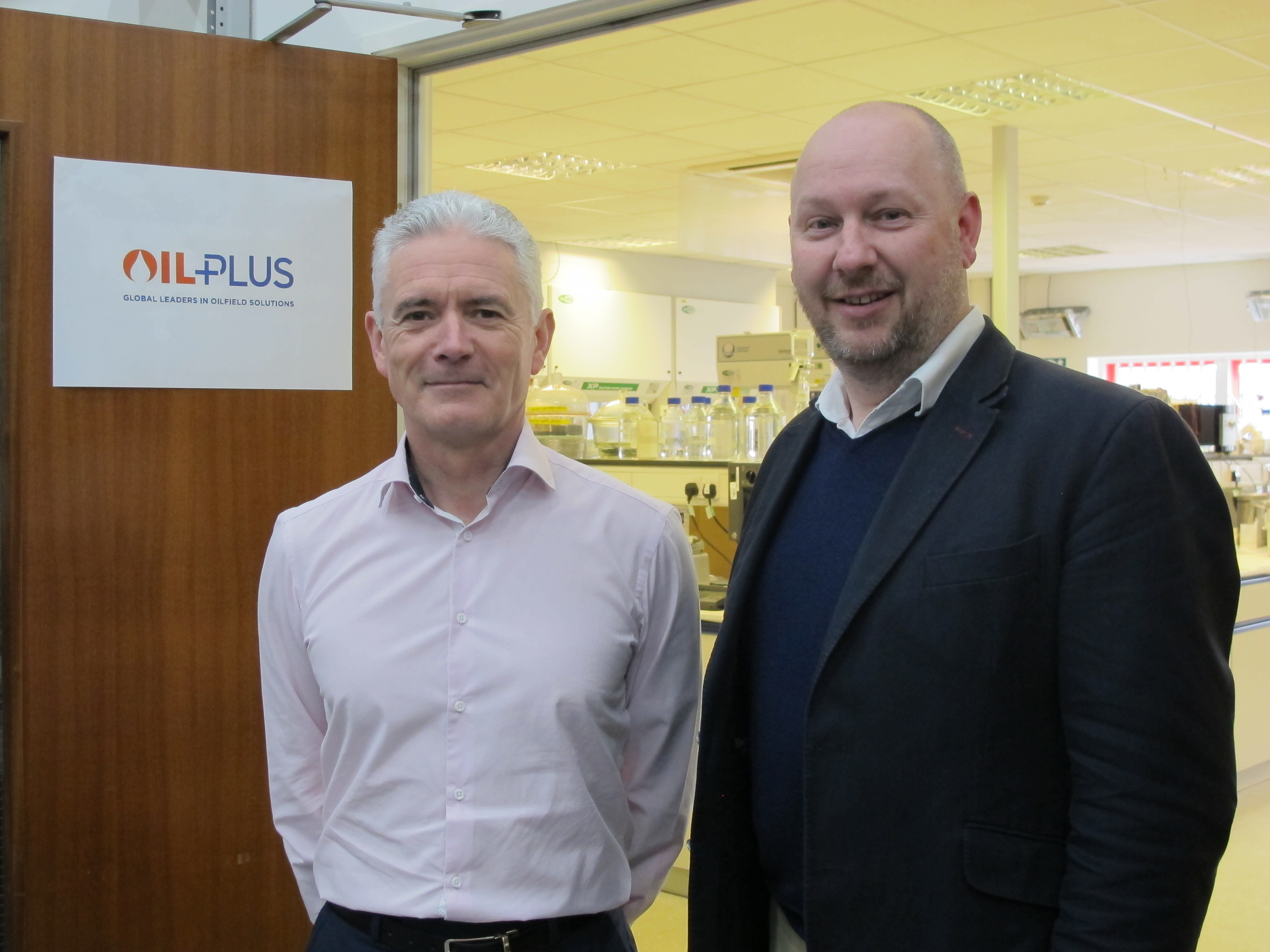 Mark Cavanagh (right) who has acquired Oil Plus beside the company's managing director Kevin Murray.