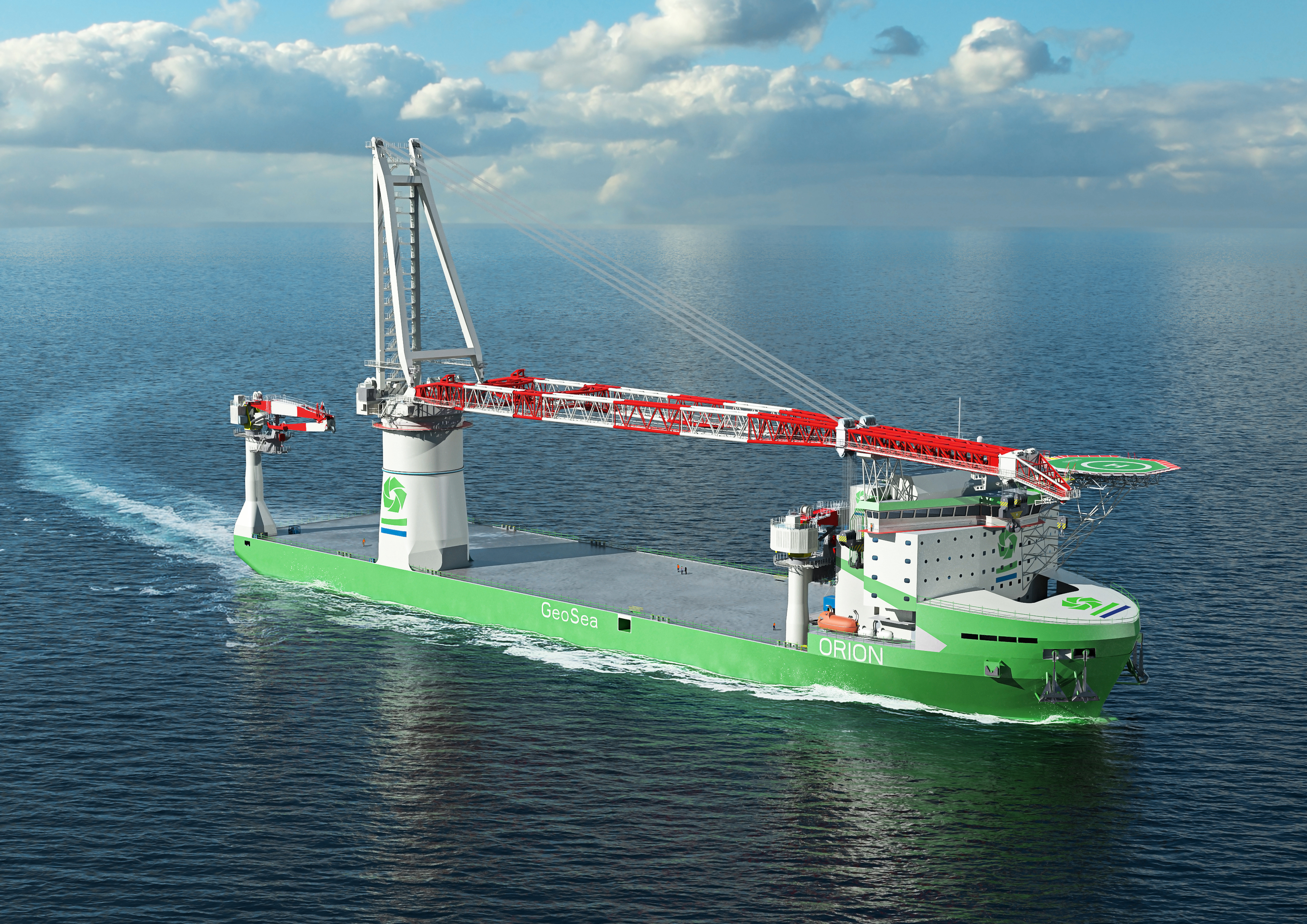 The world's first LNG fuelled offshore construction vessel being built for DEME will be powered by Wartsila.