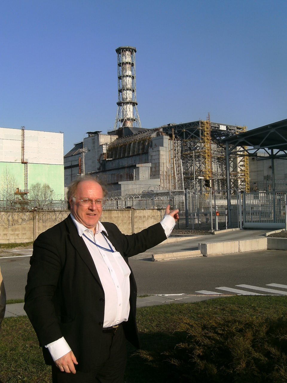 Dr Alan Flowers at the site in Ukraine