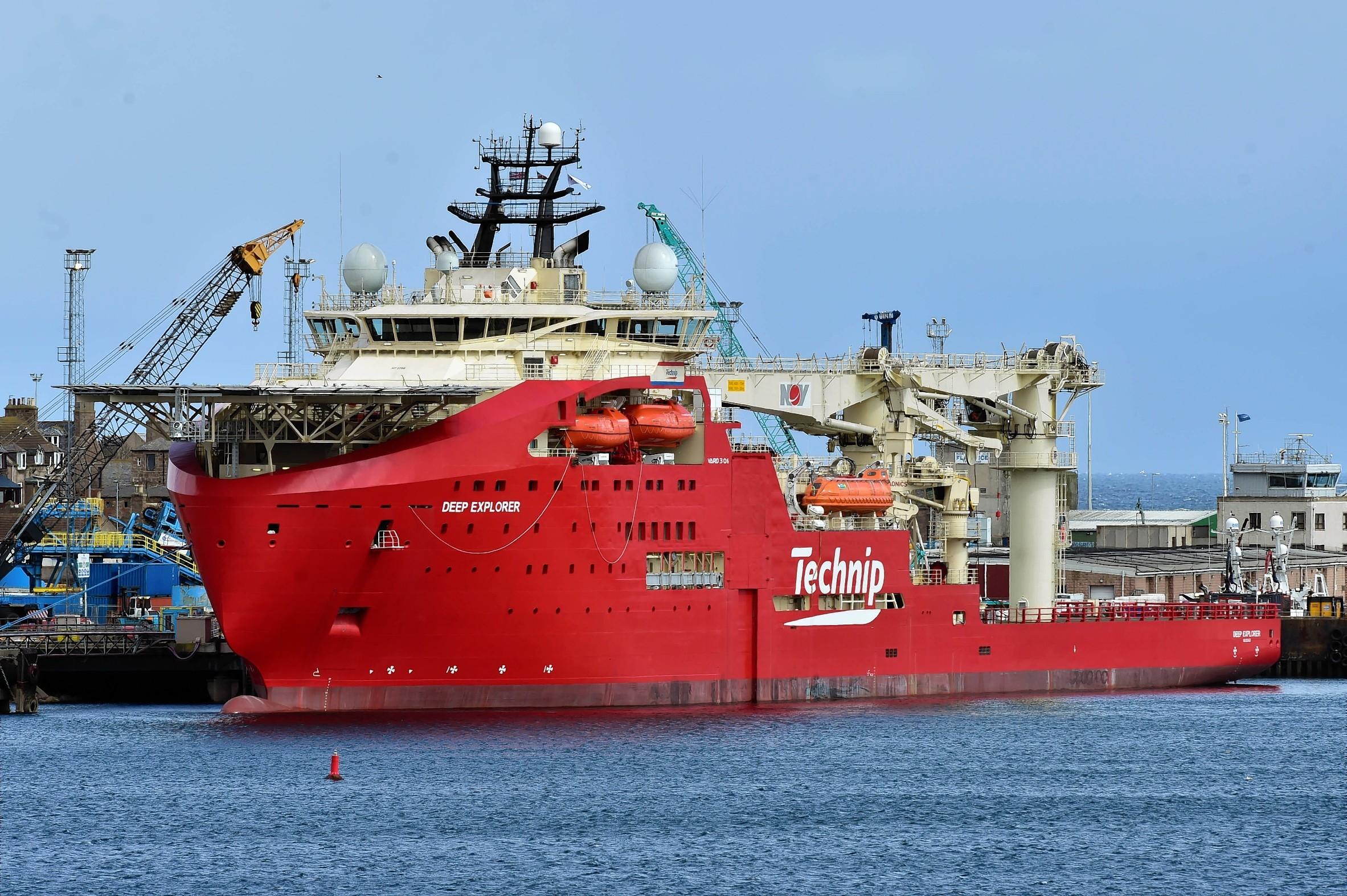 The Deep Explorer at Peterhead harbour