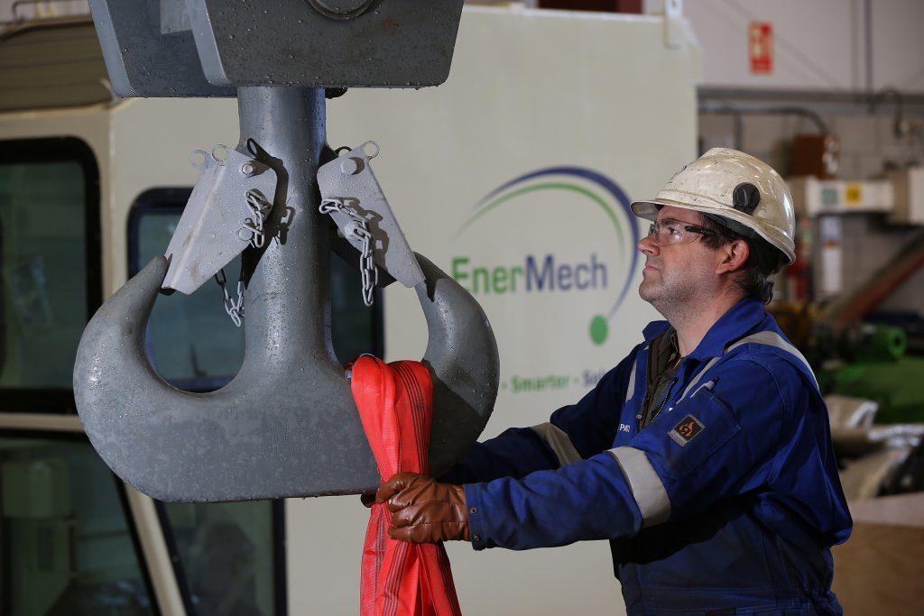 An EnerMech crane operative.