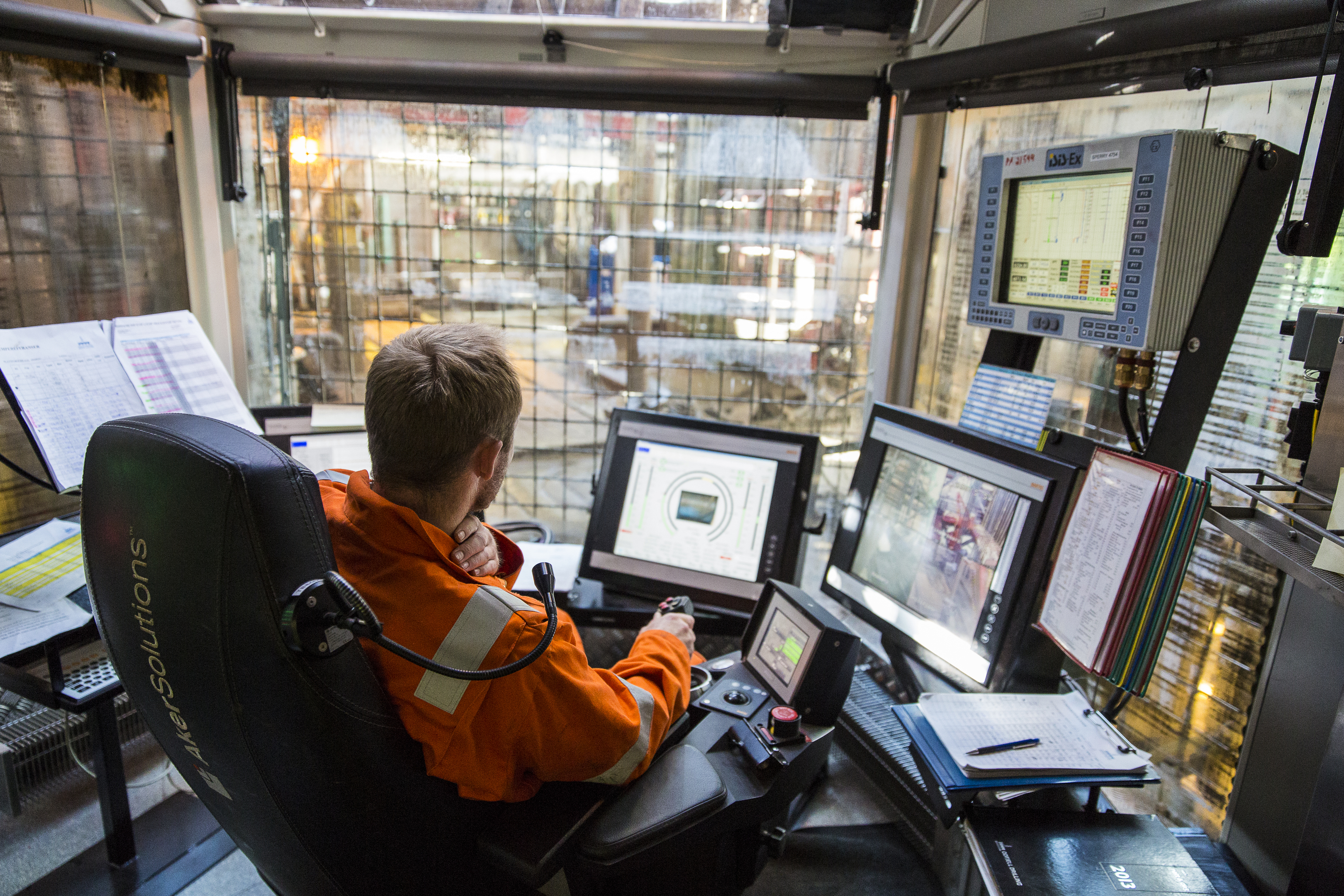 An engineer in Wintershall's Brage Platform, Norway.