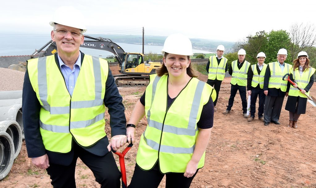 Robert and Kelly McAlpine at the ground-breaking ceremony