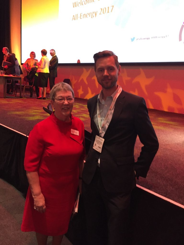 Joachim Amland of Tidetec AS with Judith Patten of All-Energy