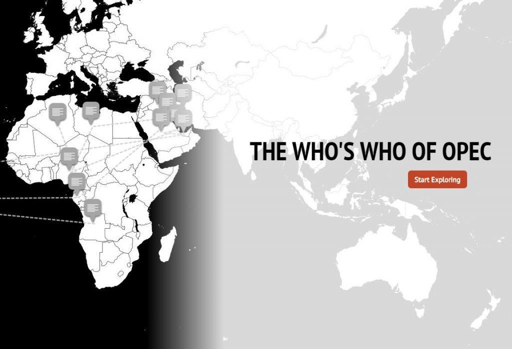 OPEC interactive map