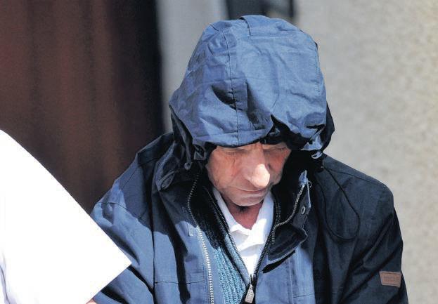 Alexander McLean, 63, leaves court to begin his sentence.
