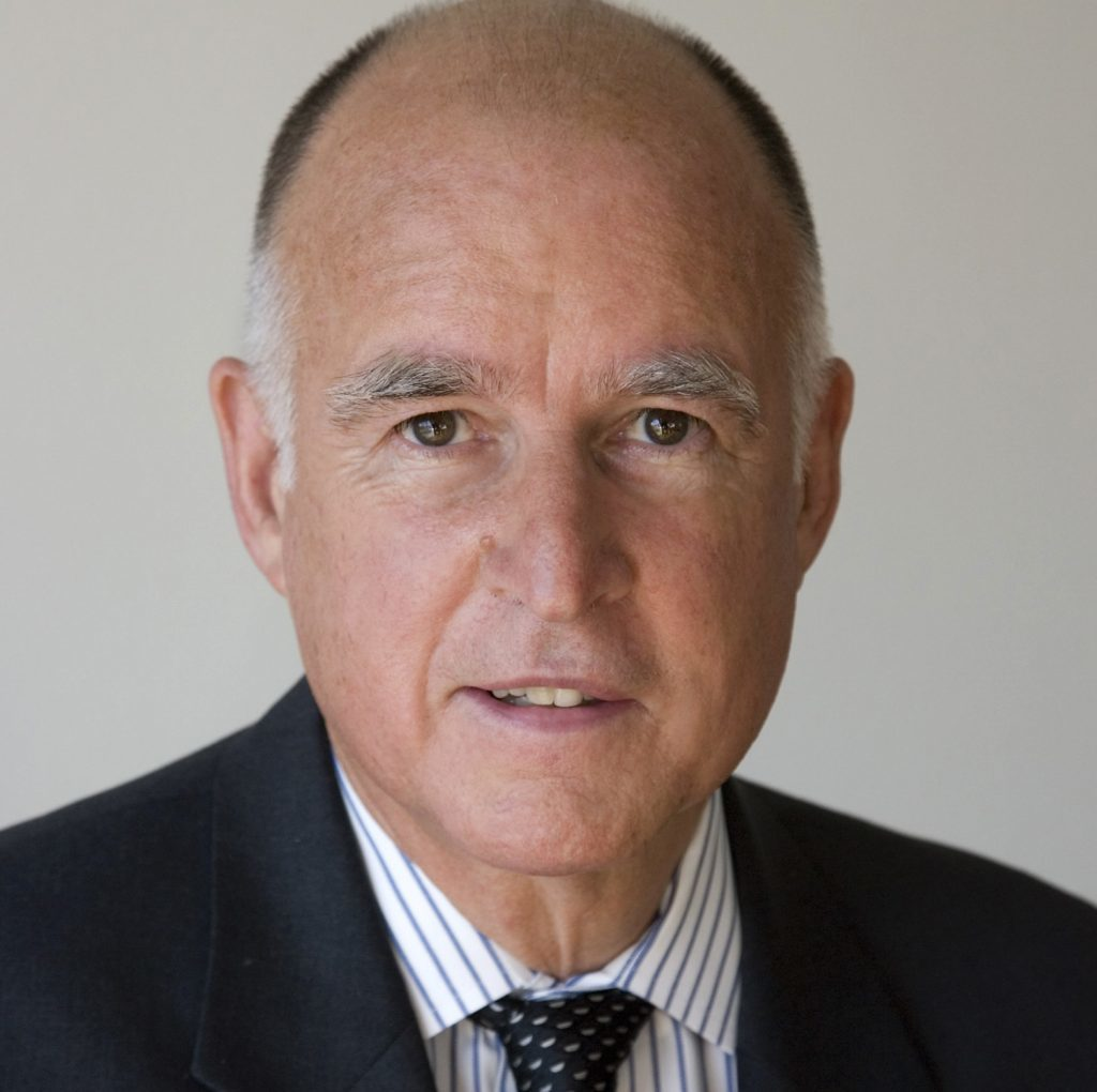 Californian governor Jerry Brown