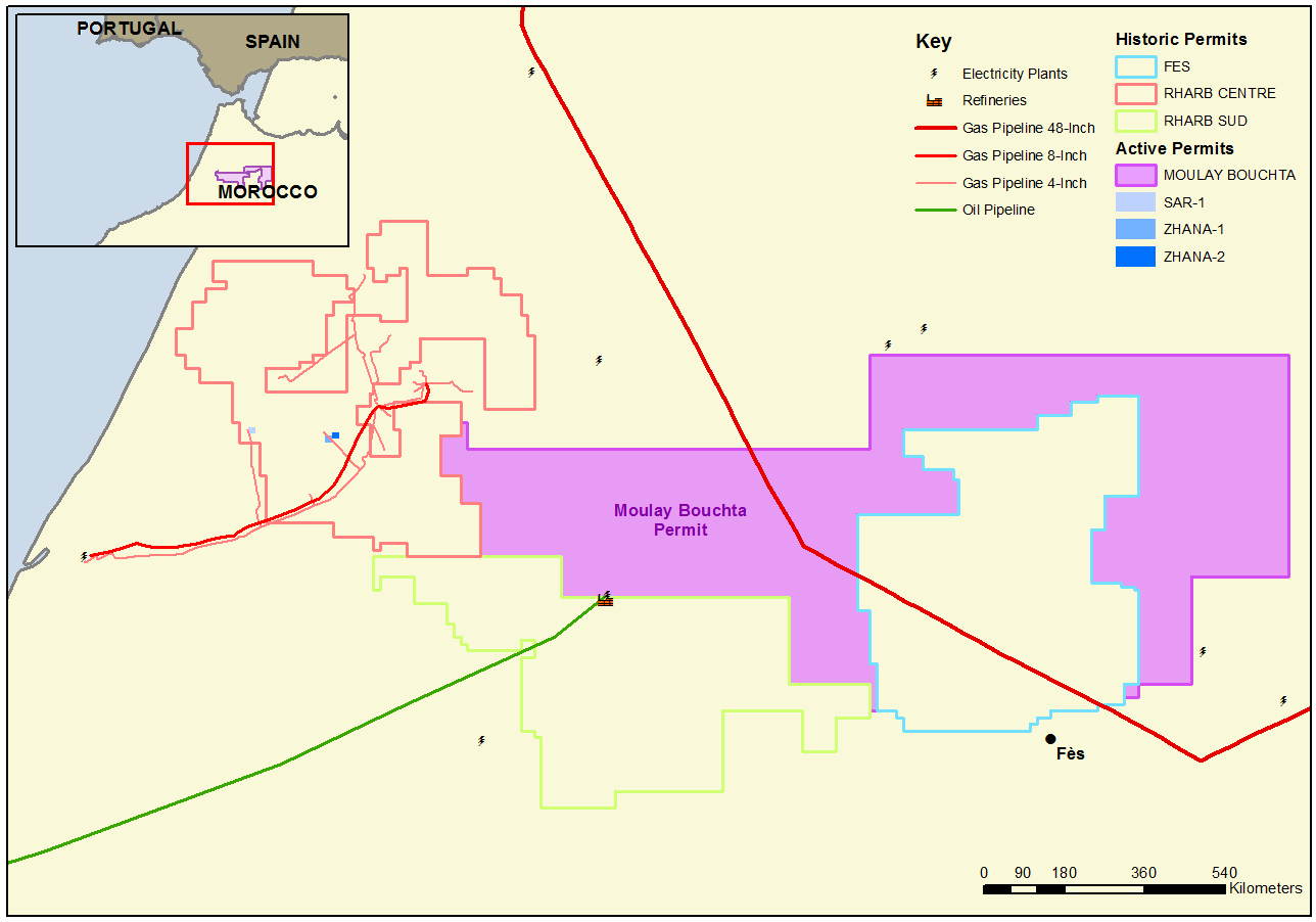 The Moulay Bouchta licence area