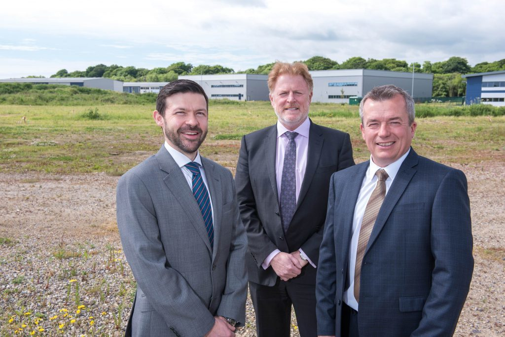 Simon Harvey, Proserv's head of operation at Great Yarmouth, David Lamont, CEO, and Iain Smith, region president  for UK and Europe, at the site of the company's new facility in Great Yarmouth.