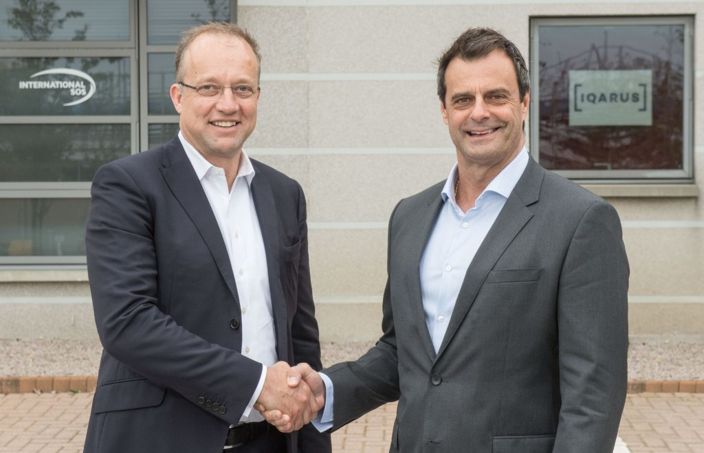 l-r Tim Mitchell, CEO at Iqarus and Michael Gardner, group director medical services at International SOS