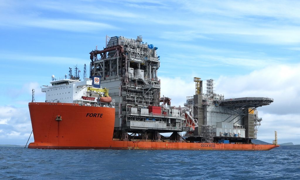 A Mariner topside module aboard a Dockwise heavy lift vessel. Photo by Billy Fox.
