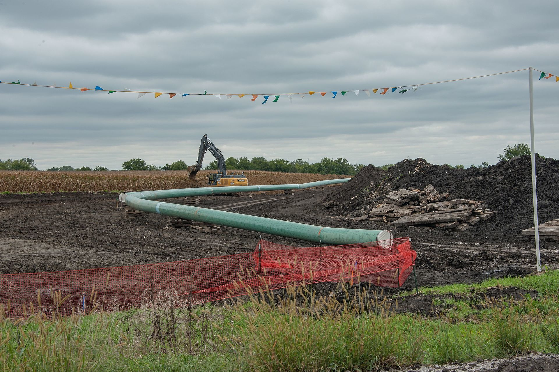 Dakota Access Pipeline being built in central Iowa. Carl Wycoff