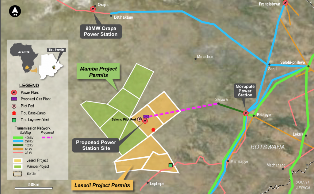 Tlou Energy plans to offset its scope 1 emissions by growing vegetation around its Lesedi site, in Botswana.