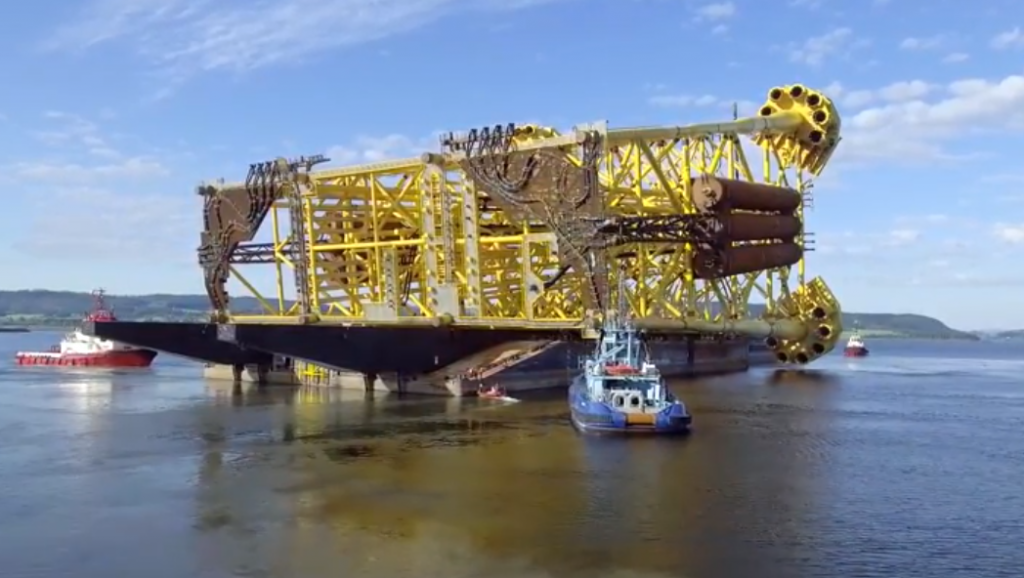 The riser platform jacket for Johan Sverdrup
