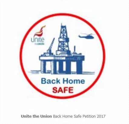Unite the union's Back Home Safe 2017 campaign logo