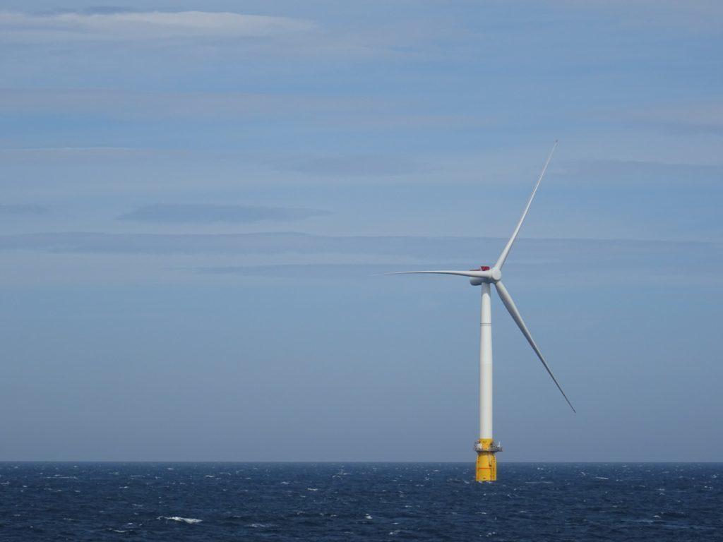 A turbine used in Equinor's Hywind development off Peterhead
