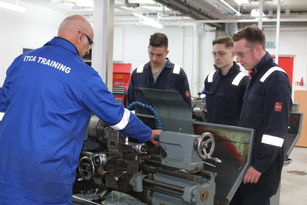 Apprentices at ITCA Training centre.
