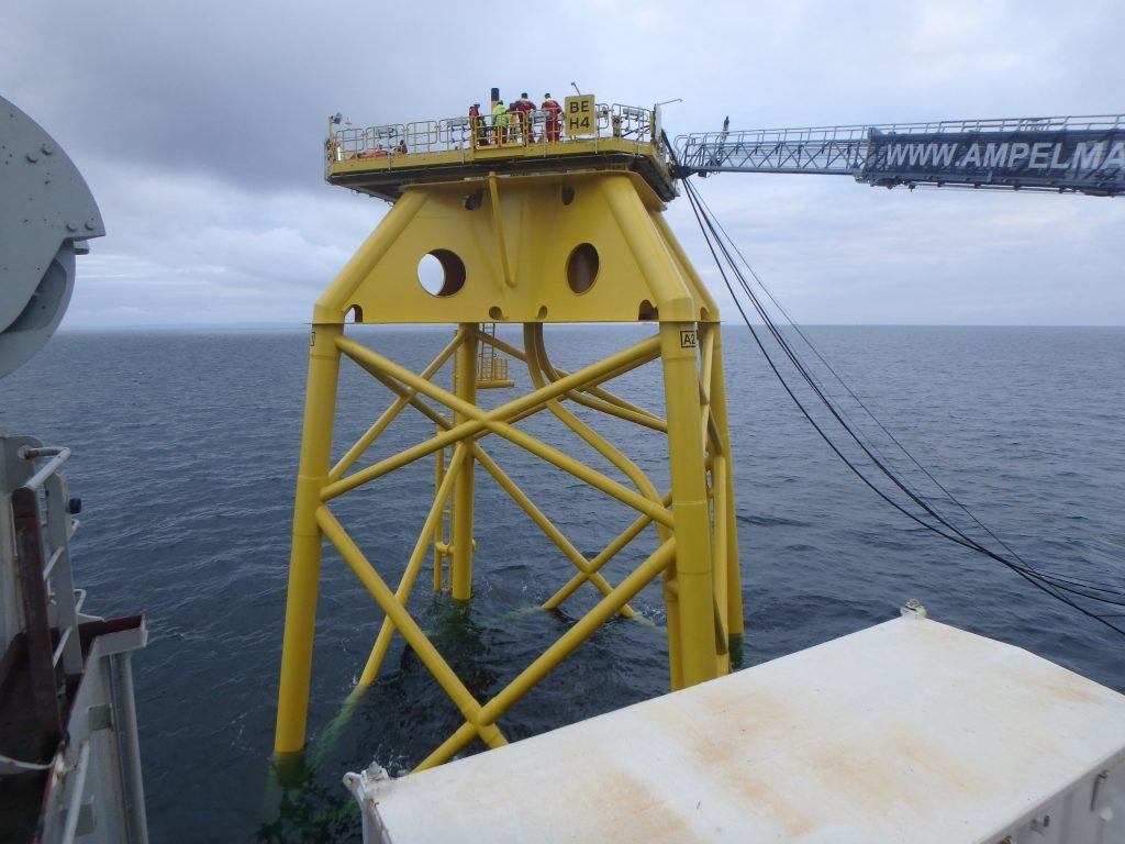 The first jacket for the Beatrice Offshore Wind Farm has been installed.