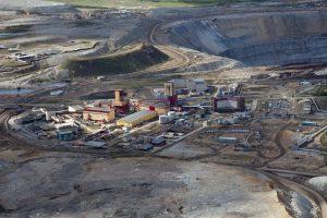 The Mir diamond mine in Russia.
