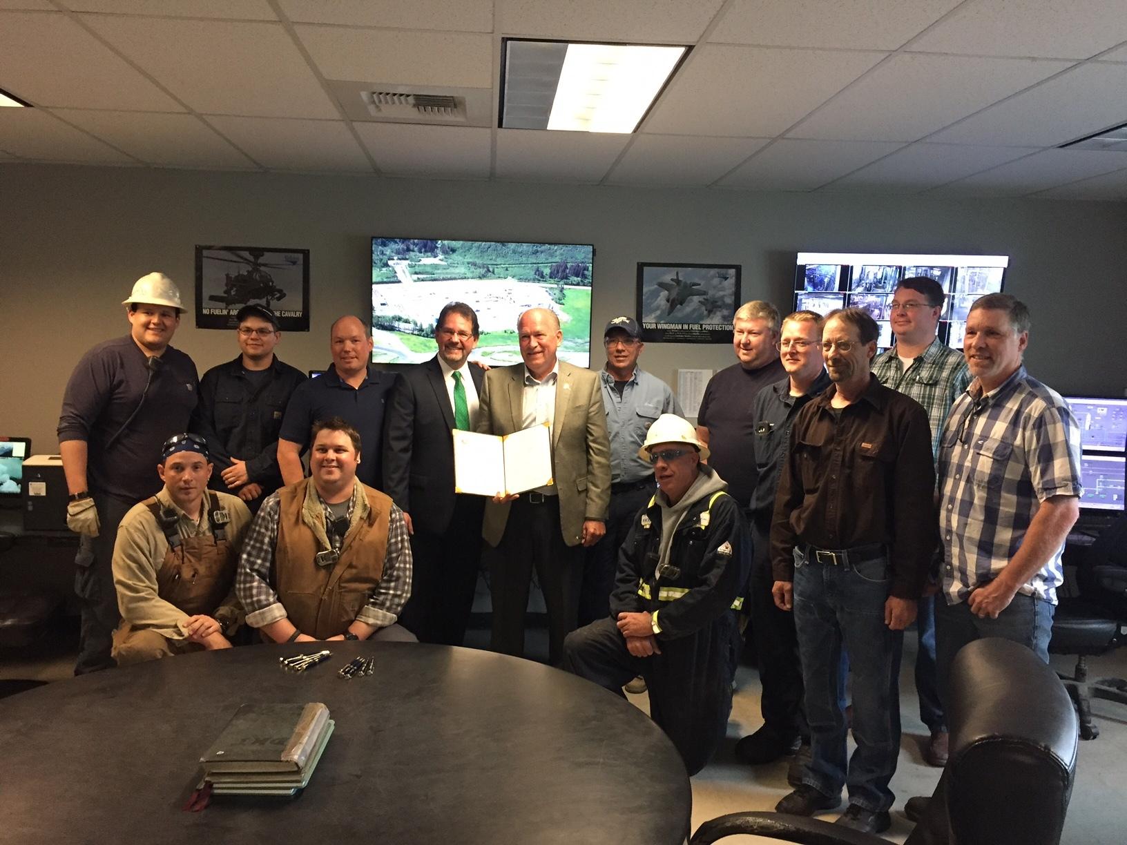 Bill-signing ceremony at Petro Star Valdez Refinery