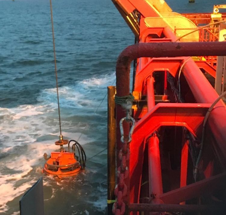 The Sea Axe being deployed on a wind farm project.