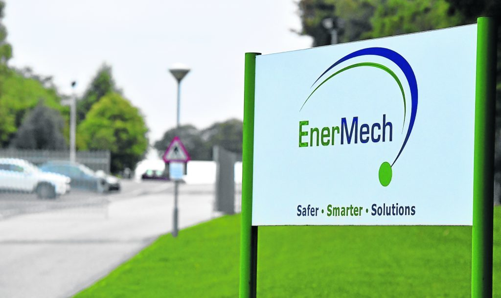 The entrance to EnerMech, Howes Road, Aberdeen.