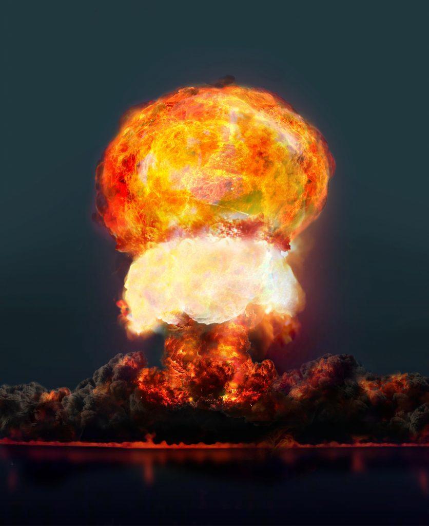 A digitally rendered nuclear detonation
