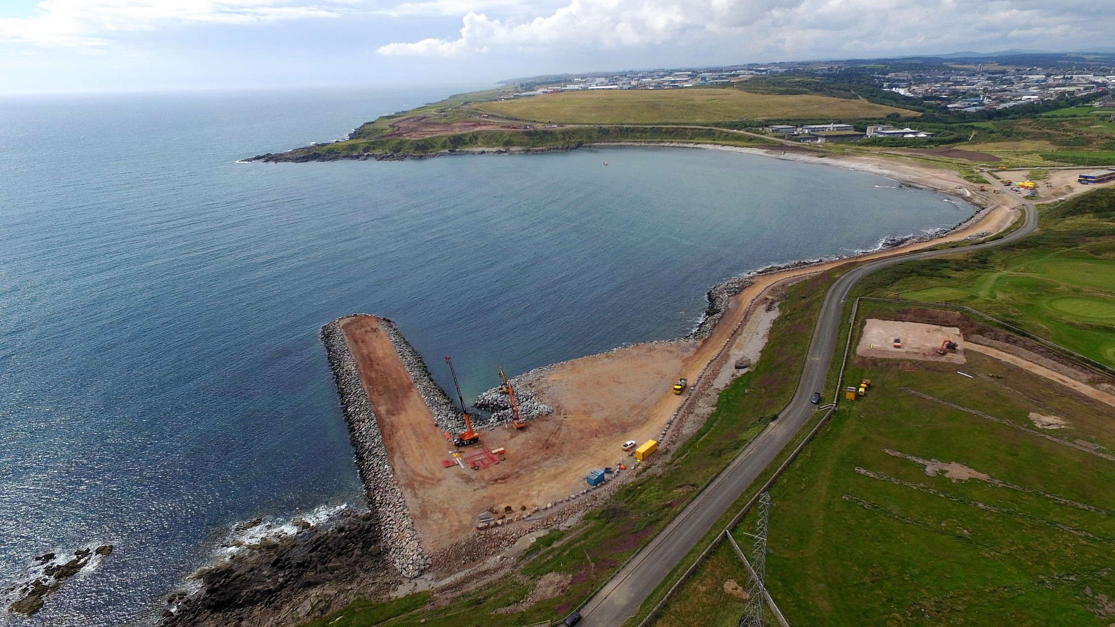 The Nigg harbour expansion starts.