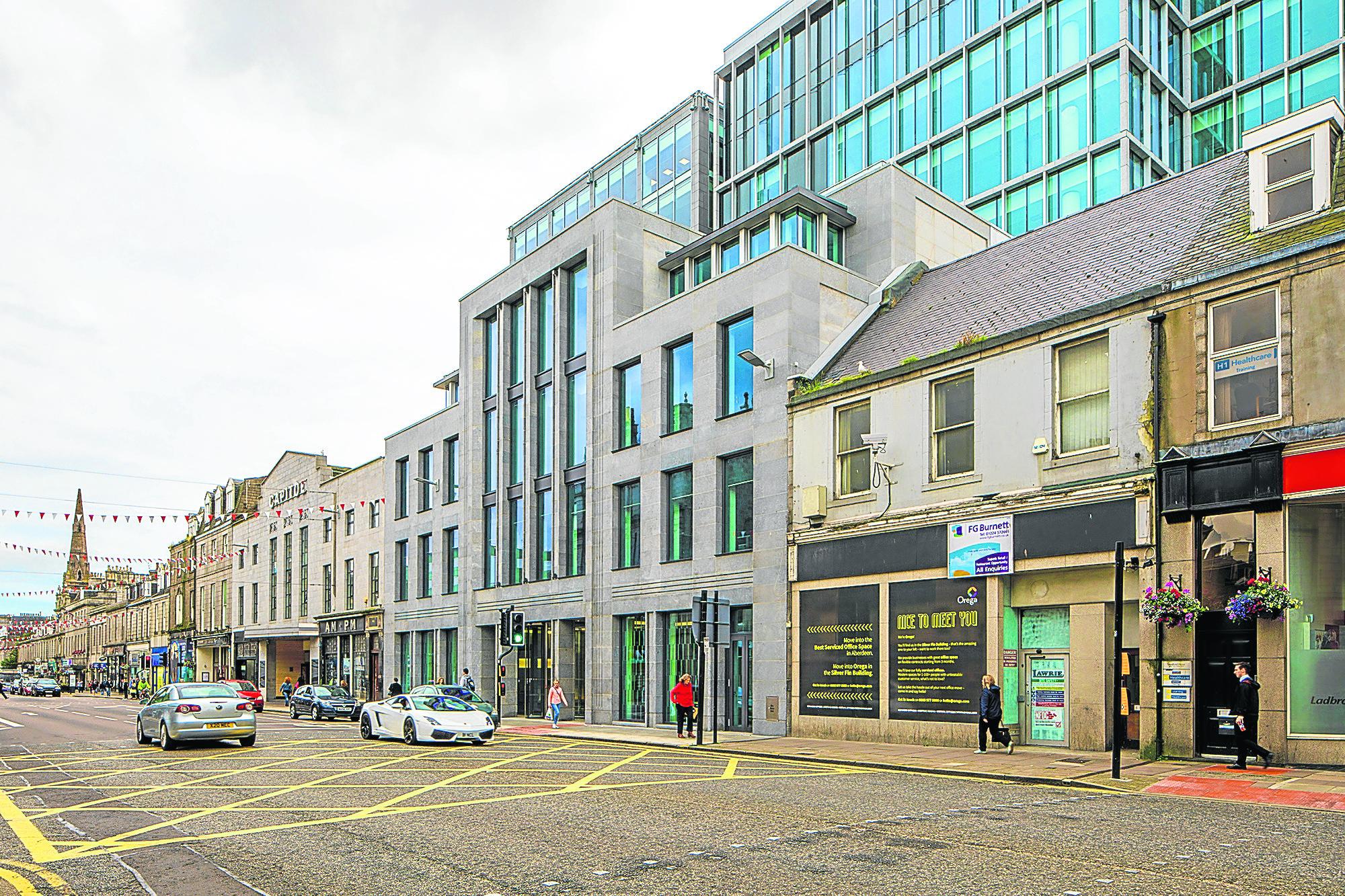 The new Silver Fin office development in Aberdeen