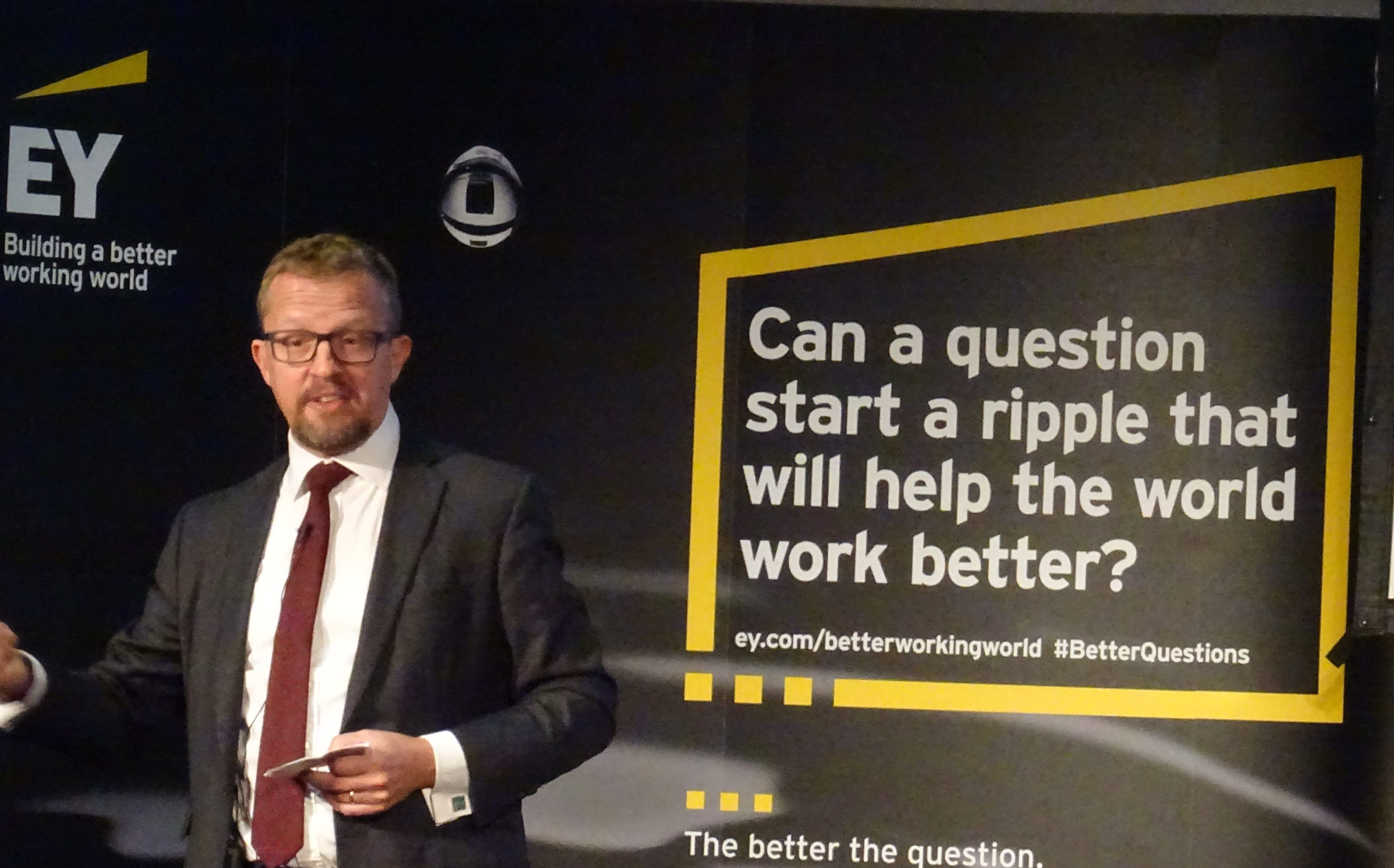 Mark Hutchinson of professional services firm EY